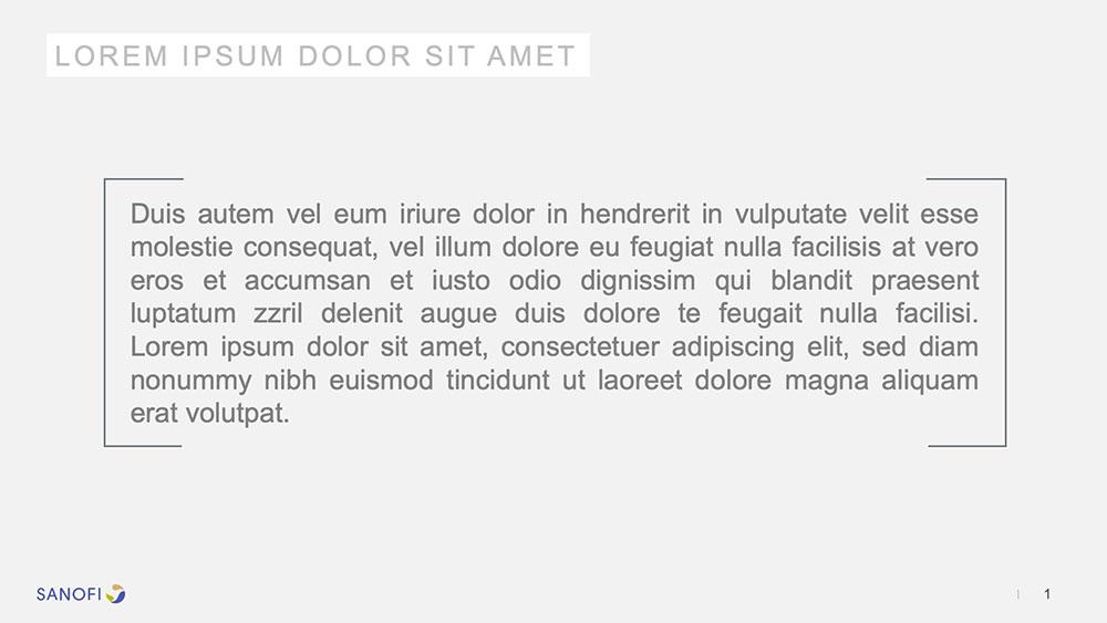 Exemple de réalisation de slide Powerpoint pour Sanofi